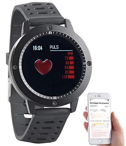 Newgen Medicals Fitness Armbanduhren: Fitness-Uhr, Touch-Farbdisplay, Blutdruck- & Herzfrequenzanzeige, IP67 (Smartwatch mit Nachrichtenanzeige)