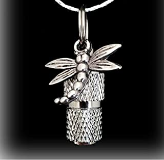 Pasco Specialty Products Classic Mini Faceted Silver Dragonfly Cremation URN Keepsake - Includes Velvet Pouch & Fill Kit