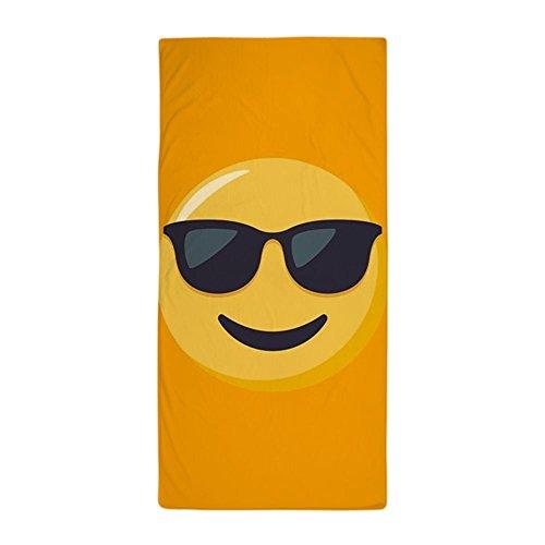 CafePress – Lunettes de soleil emoji – Grande serviette de plage, doux 76,2 x 152,4 cm Serviette de toilette avec design unique