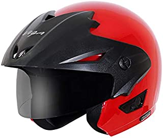 Vega Cruiser CR-W/P-R-M Open Face Helmet (Red, M)