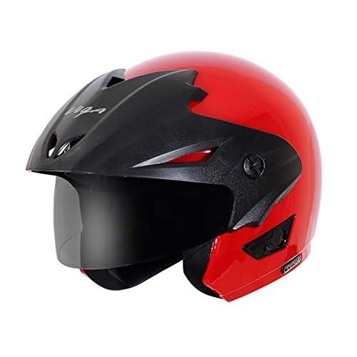 Vega Cruiser CR-W/P-R-M Open Face Helmet (Red, M)