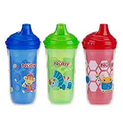3. Nuby Insulated No Spill 9 Oz Sippy Cup (3-pack)