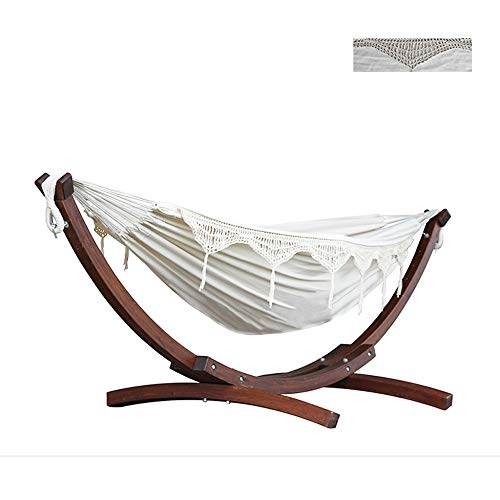 Swing Outdoor Hammock Sun Umbrella Hammock With Solid Pine Arc Stand Multiple Load Suitable 450 Pounds For Garden Sleeping,E