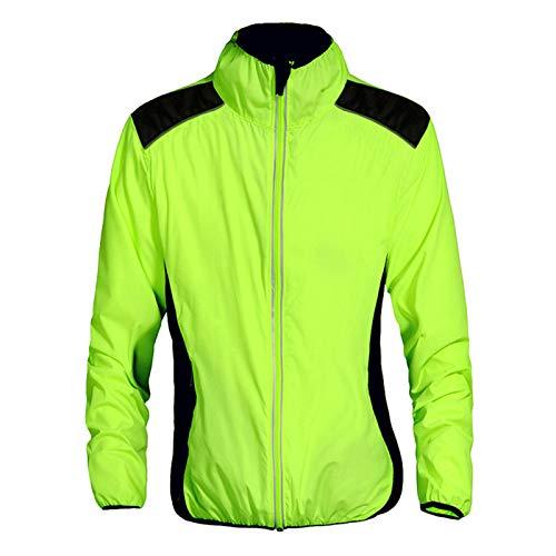 Chaqueta De Ciclismo Impermeable para Hombre,Transpirable Cortavientos Bicicletas De Abrigo,Alta Visivilidad Ropa De Ciclismo Reflectante De MTB,Adecuado para Andar En Bicicleta, Correr, V(Size:XXL)