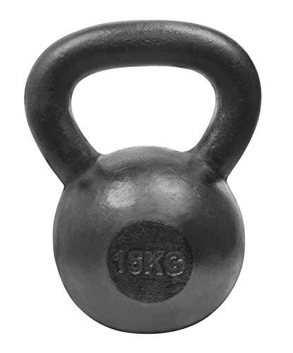 LIFEFIT Stahl-Kettlebells, schwarz, 12 kg