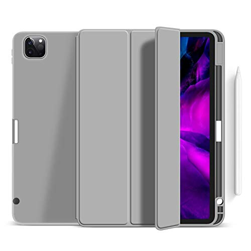 RZL PAD & TAB cases For iPad Pro 11 12.9 2020 iPad Air 4 10.9, Wireless Charge Case with Pencil Holder, Case for iPad pro 11 2020 12 9 Air4 (Color : Gray, Size : Pro 11 2020 2018)