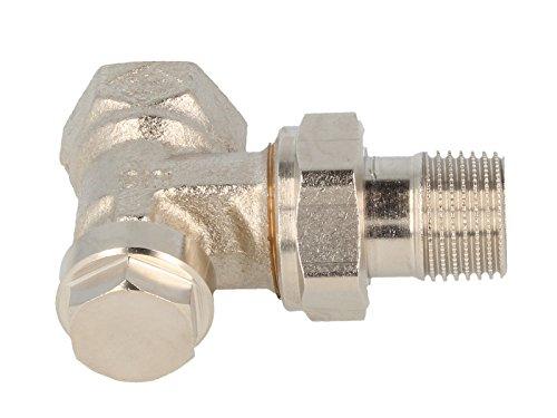 Heimeier Regulux radiator terugloopkoppeling hoekvorm roodgietwerk vernikkeld DN 20 (1,90 cm)