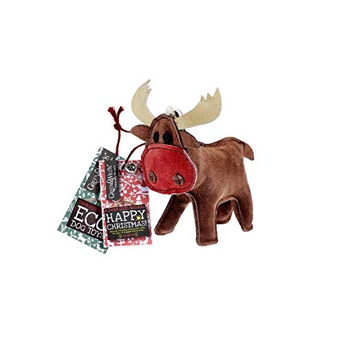 Rudy the Reindeer - Eco Dog Toy Jute and Suede Green & Wild