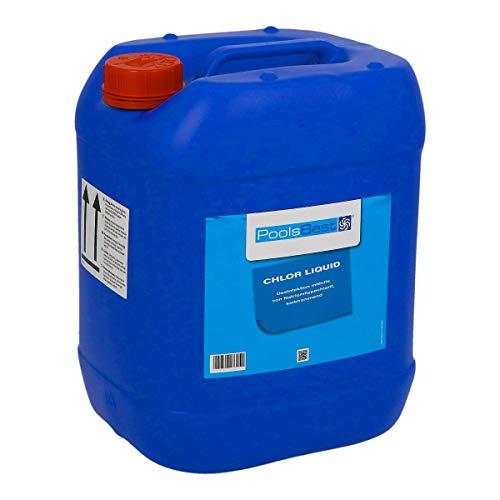 POOLSBEST® 24,5 kg Flüssigchlor für Pool - Chlorbleichlauge mit 13% Chloranteil - verhindert zusetzten von Leitungen