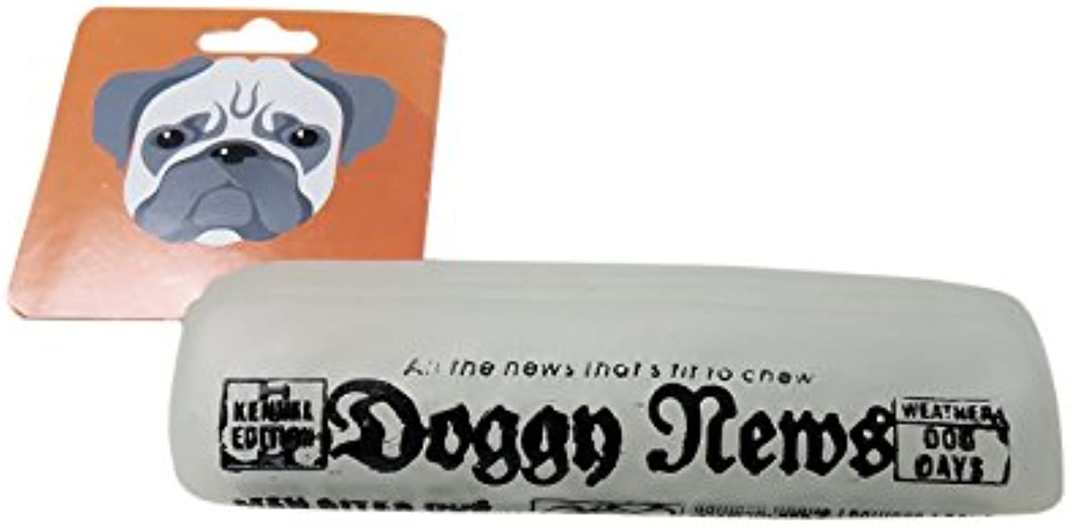 Adog Doggy Newspaper Glow in the Dark Squeaky Dog Toy