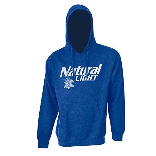 Natty Light Logo Royal Hooded Sweatshirt XX-Large Blue