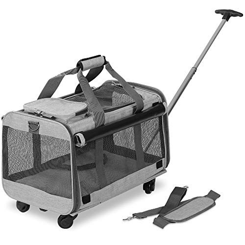 KOPEKS Pet Carrier with Detachable Wheels