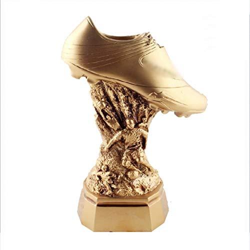 Trofei, medaglie e premi Scarpa d'oro Calcio Concorso Resina Placcato Oro Eccellente Atleta Trophy Accessori (Color : Gold, Size : 18 * 11.8 * 23cm)