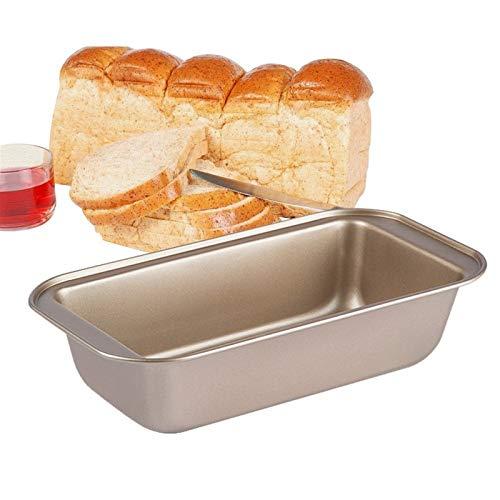MFSL 1PCs Baking Pan Nonstick Carbon Steel Bread Pan Loaf Pan Rectangular Long Toast Box Baking Supplies Cheese Toast Baking Molds (Color : Golden 255x130x60mm)
