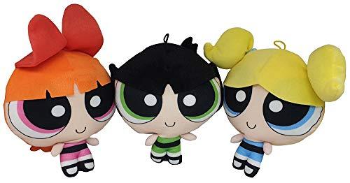 Cartoon Network Powerpuff Girls 3er Set Blossom, Base & Buttercup Plüsch-Figuren 25 cm