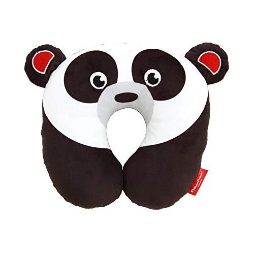 ARDITEX Fisher-Price Coussin De Nuque Panda En Polyester 27X27X6Cm Almohada Viaje, 27 cm, Negro (Noir)