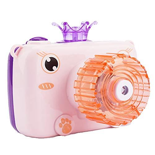 ZXY Kamera Seifenblasenmaschine Bubble Machine-Spielzeug Für Kinder, Comic Soap Bubble Blower, Licht Und Musik Spielzeug Für Kinder Elektro-Geschenke,Rosa