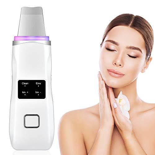 Ultrasony Scrubber Froller Terapia Luz de Limpieza Limpieza Facial Levantamiento Hidratante Blackhead Remover LED Photon Ion Skin Care Herramienta