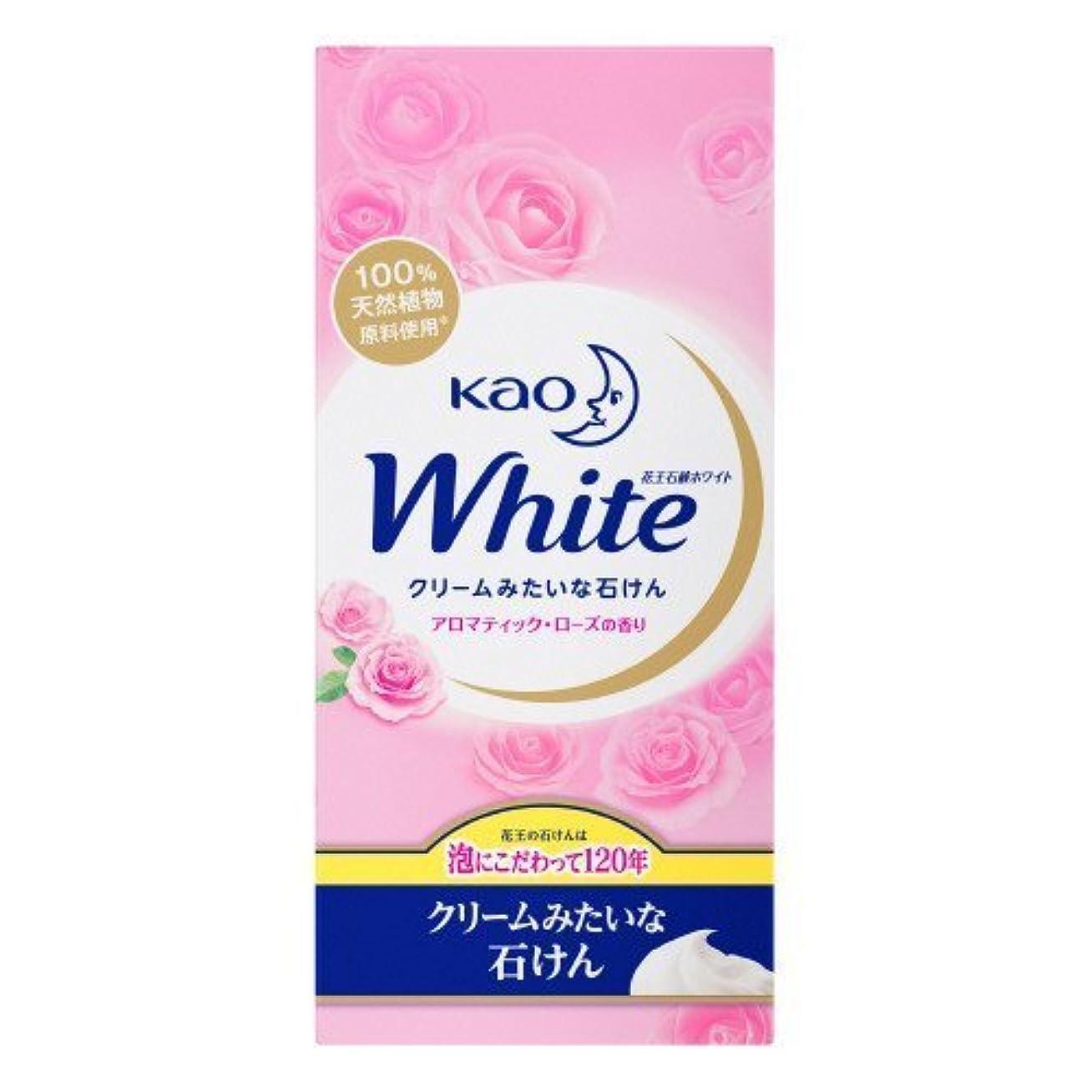 虚栄心小道好きである【花王】花王ホワイト アロマティックローズの香りレギュラーサイズ (85g×6個) ×5個セット