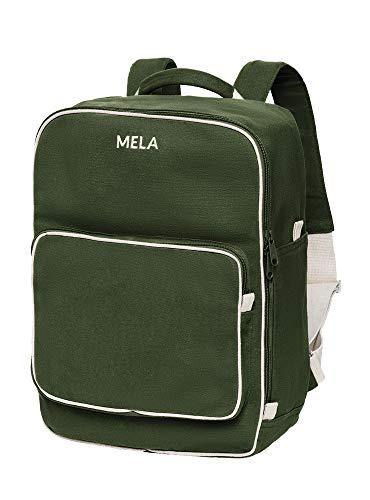 MELAWEAR MELA II Rucksack - Nachhaltig mit Fairtrade Cotton, GOTS und Grüner Knopf Zertifizierung, Farben MELA II:olivgrün