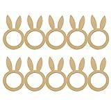ARTOCT Portatovaglioli pasquali in Legno, 10PCS Tovaglioli pasquali Fibbie Portatovaglioli di Coniglio Decorazione da Pranzo per la Cena di Nozze Banchetto per Feste Compleanno