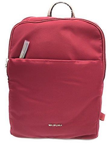 Waipuna Rucksack Kanalana Cityrucksack Damen leicht modern Tasche (rot)