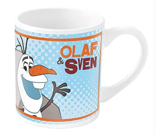 POS 24675 - Tasse mit Disney Frozen Olaf Motiv, aus Porzellan, Fassungsvermögen circa 200 ml, Spülmaschinen- und Mikrowellengeeignet, für Kinder und alle Fans des lustigen Schneemanns