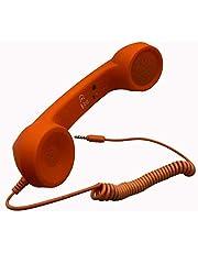 HoneyBB 3 5mm放射線防護攜帯ハンドヘルド電話受話器 スマホ 受話器 首に挾める アイフォン アンドロイド レ