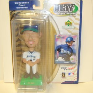 2001 MLB Edition Ichiro Bobblehead Play Makers by UPPER DECK (Includes Collectible Card)