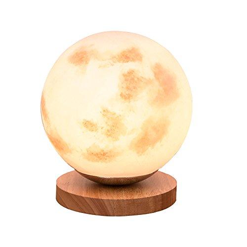 uus Lampe de bureau Moonlight LED Moonlight LED Lampe de chevet E27 Base de l'ampoule 18 * 19CM Lumière chaude (Energy Saving A +) (Couleur : Warm light18*19cm)
