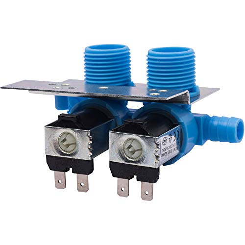 Ultra Durable 285805 Washer Water Inlet Valve with Mounting Bracket by Blue Stars - Exact Fit for Whirlpool Kenmore Kitchenaid Washers - Replaces 292197 3349451 3354565 PS334646