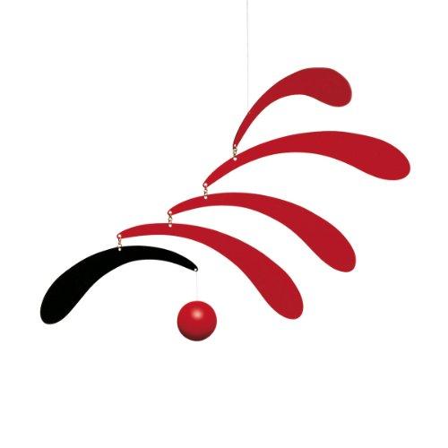 Flensted Flowing Rhythm, red Mobile, Stahl, rot/schwarz, 30x45cm