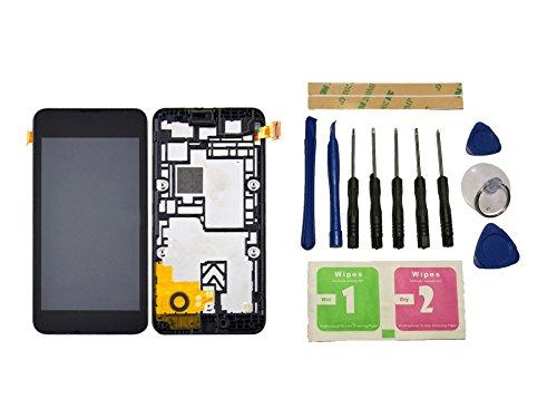 Flügel per Nokia Lumia 530 RM-1018 Schermo Display LCD Display Nero Touch Screen Digitizer Sostituzione Assemblea Frame di ricambio e Strumenti Gratuiti