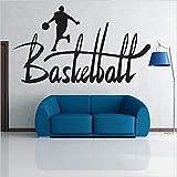 Njuxcnhg Basketball Boy Sport Wandaufkleber Schlafzimmer Wohnzimmer Aufkleber Dekoration PVC Aufkleber Wandtattoos Für Ball Player Kinderzimmercm 131x72cm