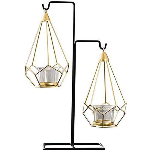 Dongbin Kerzenständer Metall Dekoration des Hauses des hohlen Mode Wohnzimmer dekorative Eisen Kronleuchter,Gold