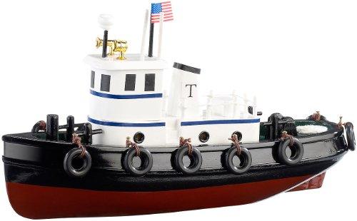 Playtastic Schiffsbausatz: 70-teiliger Schiff-Bausatz Schlepper aus Holz (Schiffsmodelle)