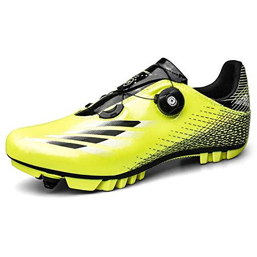 KUXUAN Zapatillas de Ciclismo MTB para Hombre Zapatillas de Bicicleta de Montaña...