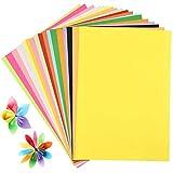 Papel Fodlon, 100 hojas A4 de 20 colores, papel de manualidades para crear pompones, flores de papel, decoraciones de mesa, relleno en bolsas de regalo