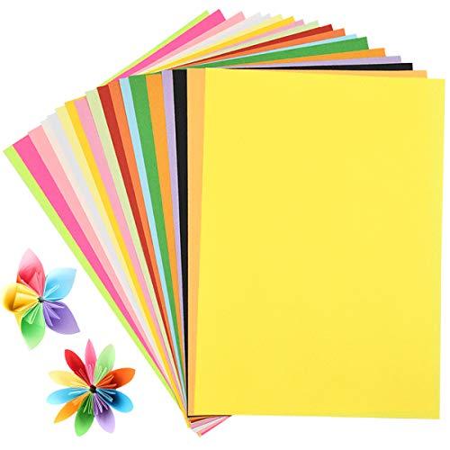 200 Blatt Buntpapier Basteln, Farbigen A4 Kopierpapier 80gsm, Bunte Zuschnitt Papier für Dekorieren, Tonpapier Pastell Bastel-Papier für DIY Kunst Handwerk, 20 Farben