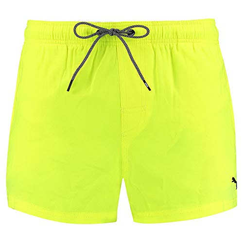 PUMA Herren Men Length Swim Shorts Badehose, Neon Yellow, XL