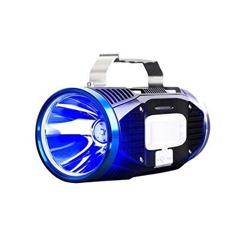 WDFDZSW Lámpara de Pesca de la Pesca de la Pesca BLU-Ray Luz Fuerte Super Brillante Linterna Genuina Xenon Equipo Grande de la Central eléctrica en la Naturaleza