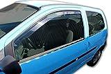 J&J AUTOMOTIVE | Deflecteurs d'air déflecteurs de Vent Compatible avec Twingo 3 Portes 2000-2007 2 pièces