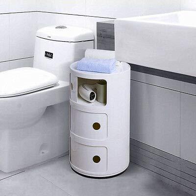 3unidades de almacenamiento redondas Componibili de oficina/cuarto de baño/cocina