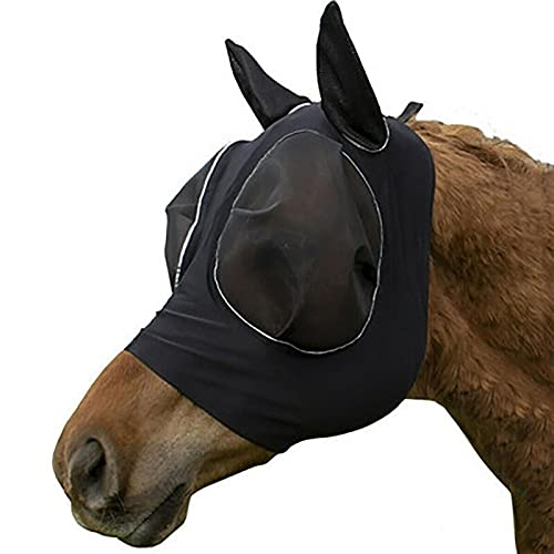 Eternitry Lot de 2 masques respirants pour cheval - Masque élastique - Tête d'âne et anti-mouches - Couverture confortable pour la tête de cheval