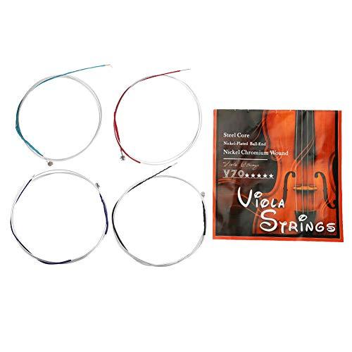 Set di corde universali professionali per viola in nichel Set accessori per strumenti musicali per viola per viola a grandezza naturale