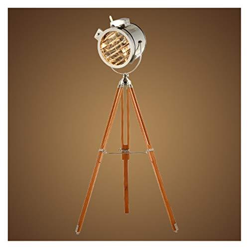 JSJJAJN Interior De pie luminarias Vintage Retro nórdica Plata Oro trípode Lámparas de Suelo for la Sala de Estar del Dormitorio del LED Luz Permanente lámpara de Piso (Lampshade Color : Style A)