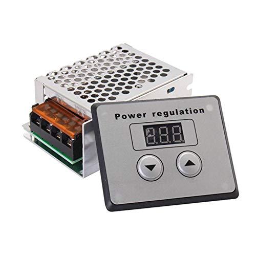 4000W 220V AC SCR Regulador de Voltaje electrónico de Alta Potencia Regulador de Voltaje Digital Dimmer Controlador de Temperatura de Velocidad eléctrico para Calentador de Agua Motores pequeños