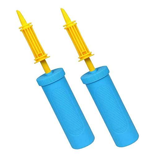 JIASHA 2 Stück Luftpumpe, Handpumpe, Party- Geburtstage-Ballonpumpen-Handmanual-Inflator-Leichtgewichtiges dauerhaftes Stabile und robuste Material