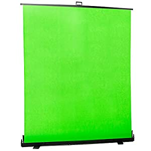 VIVO Collapsible 100 inch Diagonal Green Screen, Mountable Pull-up Chroma Key Panel Backdrop for Background Removal, Wrinkle-Resistant Fabric (PS-TP-100G)