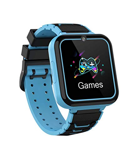 Kinder Smartwatch 7 Spiele, Touch Screen Smart Phone Watch mit Anruf Sprachnachricht SOS MP3-Player Digitalkamera Wecker, Geschenk für Kinder Junge Mädchen Student